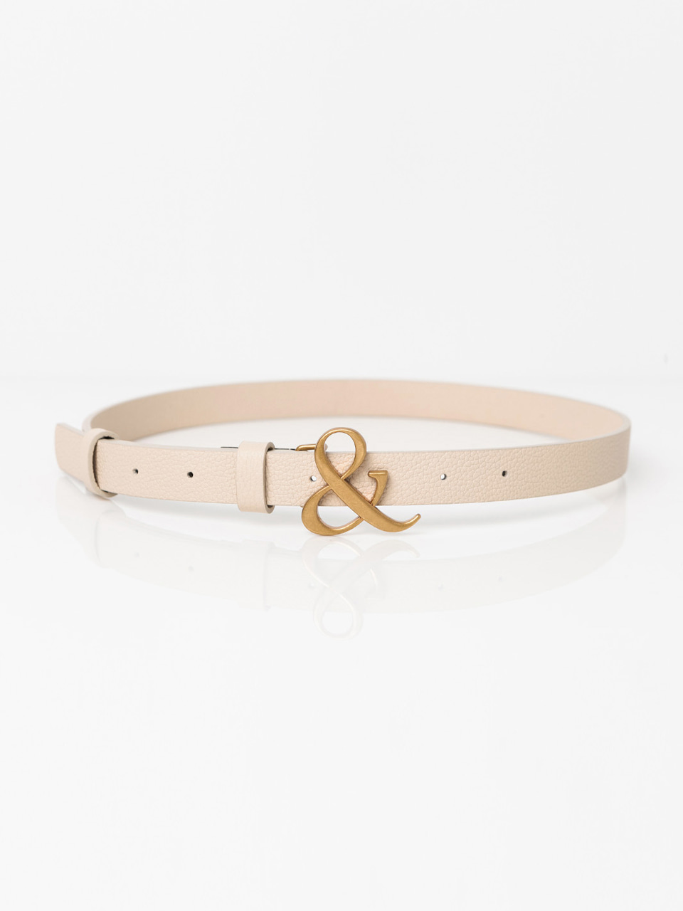 [ABCME5002M] AMPERSAND BUCKLE SLIM BELT_IV